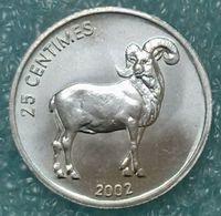 Congo - DRC 25 Centimes, 2002 Animal - Barbary Sheep ↓price↓ - Congo (Democratic Republic 1998)