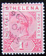 St.HELENA 1896 1d Queen Victoria Used - Saint Helena Island