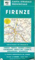 Carte Routière De La Province De Florence _ Italie - 1/100000 - 1998 - Roadmaps