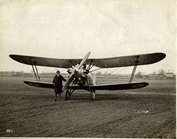 BRISTOL  BULLDOG  SERIES 11 TYPE 105A    PROTOTYPE      24 * 18 CM Aviation, AIRPLAIN, AVION AIRCRAFT - Aviación