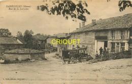 55 Rarécourt, Rue De Lorraine, Animation Et Diligences Devant La Succursale De La Société Remoise, Carte Pas Courante - Other Municipalities