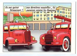 CPM 18 BOURGES POMPIERS Ils Ont Quitté Séraucourt ? 2002 - Bourges