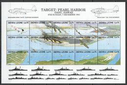 N077 SIERRA LEONE MILITARY & WAR AVIATION PEARL HARBOR 1SH MNH - 2. Weltkrieg