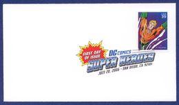 """ETATS UNIS FDC Comics Super Heroes. """"Aquaman"""". - Bandes Dessinées"""