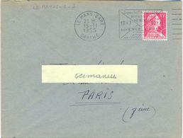 LE MANS-GARE SARTHE OM SECAP 15-11-1955 DEPUIS LE 1er JUILLET 1955 / DIMENSIONS / MINIMA / 10x7 10x7 / DES ENVELOPPES /. - Marcofilie (Brieven)