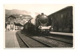 Steam Train In Menton Station - Stazioni Con Treni