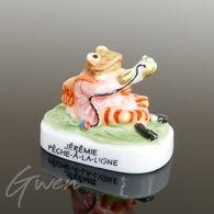 Feve Beatrix Potter Prototype Jérémie Grenouille Miniature Porcelaine Brillante - Cartoons