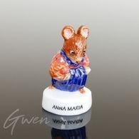 Feve Beatrix Potter Prototype Anna Maria Souris Miniature Porcelaine Brillante - Cartoons