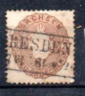 Saxe  / N 17 / 3 N Brun / Oblitéré - Sachsen