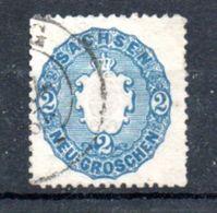Saxe  / N 16 / 2 N Bleu / Oblitéré - Sachsen