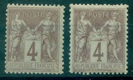 FRANCE N°88 Nxx Par 2 Nuances Cote : 42 € . - 1876-1898 Sage (Type II)