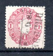 Saxe  / N 15 / 1 N Rose / Oblitéré - Saxe