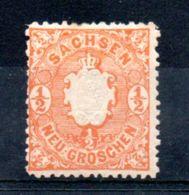 Saxe  / N 14 / 1/2 G Orange / NEUF Avec Charnière - Saxony