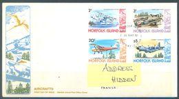 NORFOLK ISLAND - FDC - 25.4.1980  - AIRCRAFTS - Yv 236 237 241 250 ASC 237 238 242 251 - Lot 17482 - Ile Norfolk