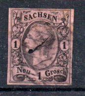 Saxe  / N 8 / 1 N Rose / Oblitéré - Sachsen