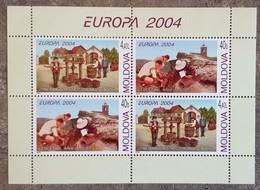 Moldavie - Feuillet YT N°422, 423 - EUROPA / Les Vacances - 2004 - Neuf - Moldavie