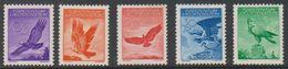 Liechtenstein 1934/1936 Airmail 5v Unused Regummed (39550D) - Luchtpostzegels