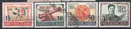 Jugoslavia 1954 Unif. 656/59 O/used VF - 1945-1992 Repubblica Socialista Federale Di Jugoslavia