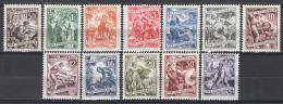 Jugoslavia 1950 Unif. 706/13 MNH/** VF/F - 1945-1992 Repubblica Socialista Federale Di Jugoslavia