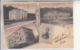 Cairo Montenotte.Interessanti E Antiche Multivedute-Vg Il 17.3.1902 X Savona-Originale D'Epoca Al100%-an - Savona