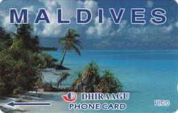 *IS. MALDIVE: 68MLDA* - Scheda Usata - Maldiven
