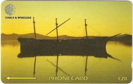 *FALKLAND ISLANDS - 339CFKC* -  Scheda Usata - Falkland Islands