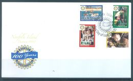 NORFOLK ISLAND - FDC - 23.2.2005 - ROTARY  - Yv 841-844 ASC 888-891 - Lot 17484 - Ile Norfolk