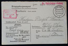 CP Prisonnier De Guerre Stalag BAU. U. ARB. BATL. 2 BAB 2 Stettin-Wendorf  SZCZECIN POLOGNE Vers Culoz Ain Mars 1941 - Poststempel (Briefe)