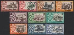Polen 1954 - Mi-Nr. 889-896 ** - MNH - 10 Jahre Volksrepublik - 1944-.... République