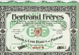 06-BERTRAND FRERES. PARFUMS. GRASSE. Capital De 3,5 MF - Aandelen