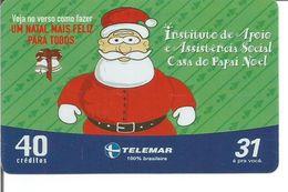 Télécarte Du BRESIL - Maison Du Père Noel ( Assistance Sociale ) - Noel
