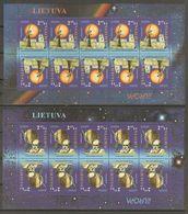 2009 Lithuania. Astronomy. Europa CEPT.   2 MS  ** - Europa-CEPT