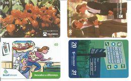 4 Télécartes Du BRESIL - Fête Du Guarana Et Divers - Brésil