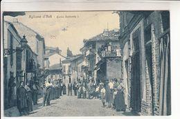 Agliano D'Asti-Via Maestra-Corso Umberto I°-Vg Il 1.9.1918 X Sampierdarena-Originale D'Epoca Al100%-an - Asti