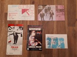 Lot De 6 Tickets De Concert : S. Wonder E. John, Sting, Pretenders, Stray Cats, Sade, - Concert Tickets