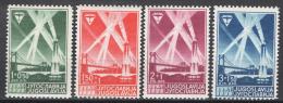 Jugoslavia 1938 Unif. 318/21 MNH/** VF - Nuovi