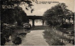 VILLENEUVE SAINT GEORGES VUE SUR L'YERRES ,BATEAU LAVOIR  REF 56551 - Villeneuve Saint Georges