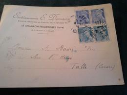 Avis De Passage Ets DERVAUX 1944 MERCURE LE CHAMBON FEUGEROLLES  LOIRE - France