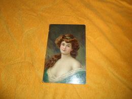 CARTE POSTALE ANCIENNE CIRCULEE DE 1907 ?. / ILLUSTRATEUR A IDENTIFIER HENRIOT ?. / SCENE PORTRAIT DE FEMME. CACHETS + T - Henriot