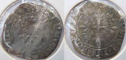 Rhône Alpes Auvergne Rhône Dauphiné Lyonnais Lyon 1417 Gros Dit Florette Charles VI Au Trèfle Creux Initial - 1380-1422 Charles VI Le Fol