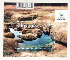 2244/ Slowenien Slovenia Slovenie 2017 Mi.No. 1259 ** MNH Block Natural Park Notranjska Land Water Stone - Umweltschutz Und Klima