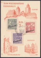 Eilenburg Germany Gedenkblatt Provinz Sachsen Aufdruckmarken Inoff. Lokalausgabe I-III, SSt.  10.6.46, Ilburg, Nicoleik. - Zone Soviétique