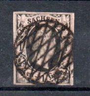 Saxe  / N 3 / 1 N Rose / Oblitéré - Sachsen