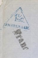 Nederland - 1868 - 1,5 Cent Drukwerkstempel Amsterdam Op Circulaire Met Voorafstempeling Uit Duesseldorf / Deutschland - Nederland