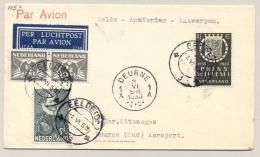 Nederland - 1933 - First Flight EELDE Naar Deurne - Briefe U. Dokumente