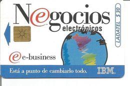 Télécarte Du MEXIQUE - IBM NEGOCIOS ELECTRONICOS - Mexique
