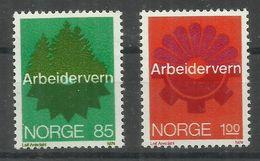 """Norwegen 685-86 """"2 Briefmarken Im Satz Kpl.zu Arbeitsschutz."""" Postfrisch Mi. 3,00 - Norvège"""