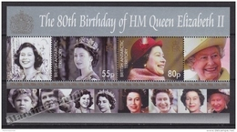 British Antarctic Territory - Antartique Britannique 2006 Yvert BF 11, Elizabeth II 80th Anniv. - Miniature Sheet - MNH - Unused Stamps