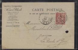 Carton PUB - PARIS  XVII è AR. - Ets Henri BLOCH - Graines Fourragères - Rue Du Bouloi 1er - Carte Professionnelle - Visiting Cards