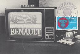 Carte Maximum  1er  Jour   FRANCE   TELEMATIQUE     RENNES    1981 - Cartes-Maximum